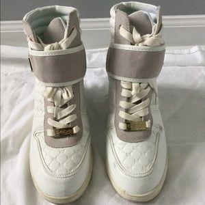 00b6fa241f4 bebe Shoes - Bebe Colby Wedge Sneakers
